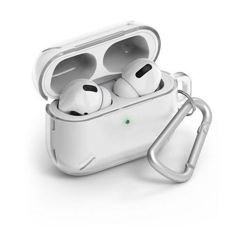 airpods case wytrzymałe etui case na słuchawki airpods pro + karabińczyk przezroczysty (acec0011) - przezroczysty marki Ringke