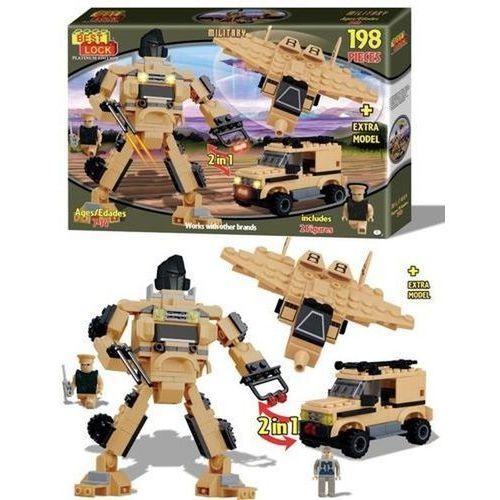 Klocki Best Lock 198 elementów Robo armia Military