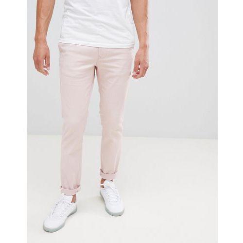 Burton Menswear Skinny Chinos In Pink - Pink, chinosy