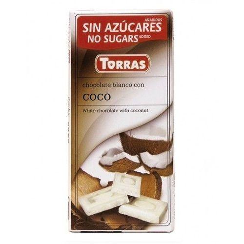 Czekolada biała z kokosem bez dodatku cukru 75g TORRAS (8410342002167)