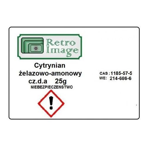 Retro-image - cytrynian żelazowo-amonowy 25g cz.d.a oczynnik do cyjanotypii marki Retro image