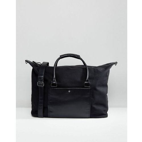 large holdall with weave detail in black - black marki River island