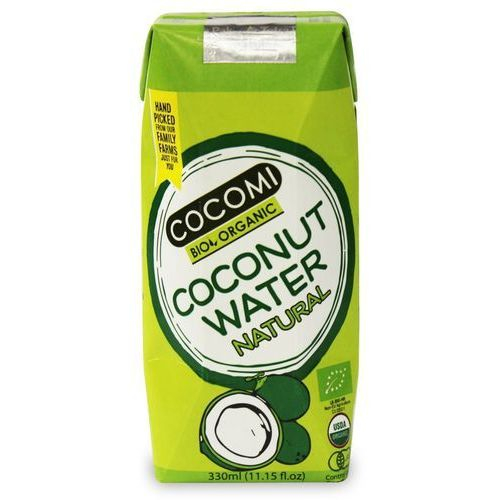 Cocomi (wody kokosowe, oleje kokosowe, śmietanki) Woda kokosowa naturalna bio 330 ml - cocomi (4792038504006)