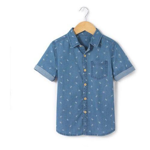 Koszula z krótkim rękawem z materiału z nadrukiem 3-12 lat