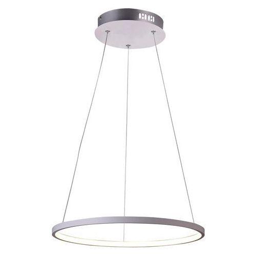 LAMPA wisząca LUNE 31-64608 Candellux metalowa OPRAWA zwis LED 25W pierścień ring biały, 31-64608