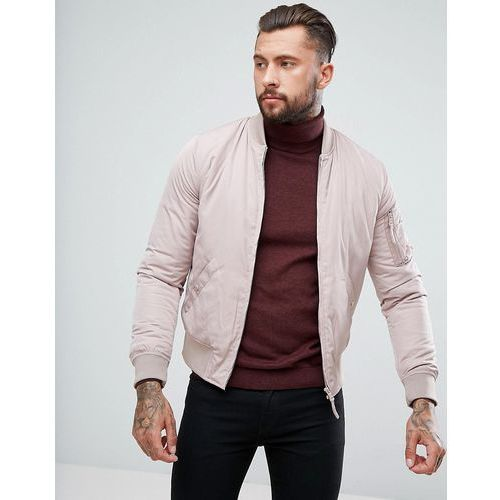 New look bomber jacket with ma1 pocket in light pink - pink