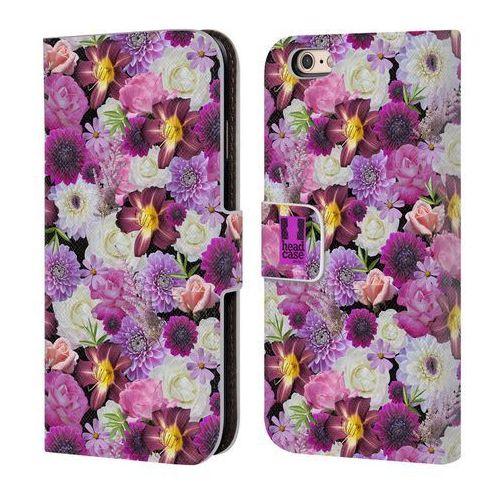 Head case Etui portfel na telefon - flowers purple and white assorted