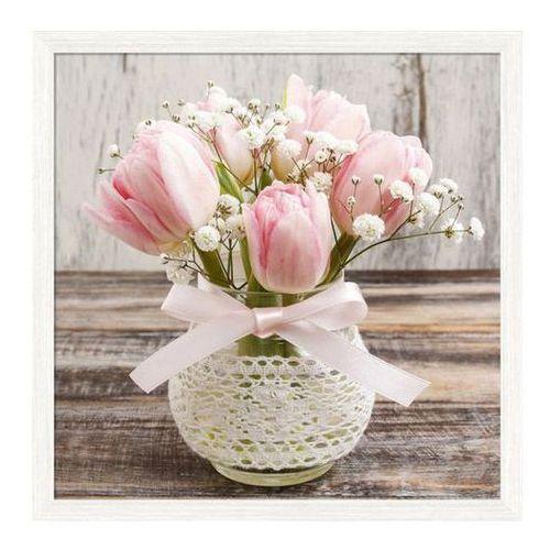 Obraz 30 x 30 cm Tulipany drewno (5901554517981)