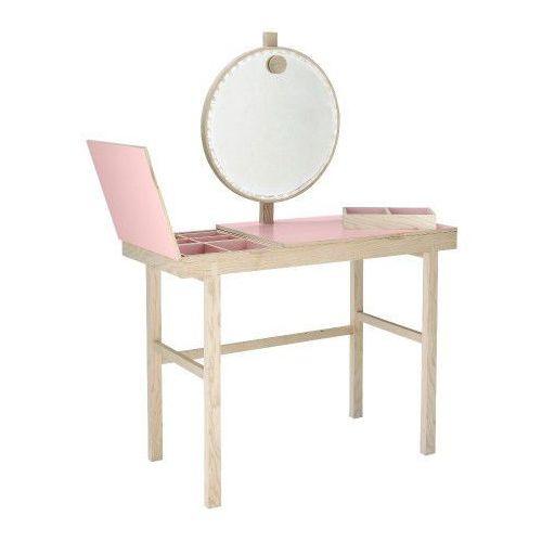 Bloomingville Toaletka z lustrem i otwieranym blatem, różowy -