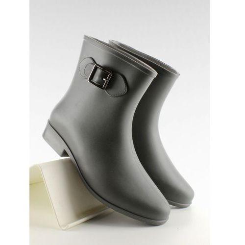 Kalosze za kostkę z klamerką d32 grey 38 marki Obuwie damskie