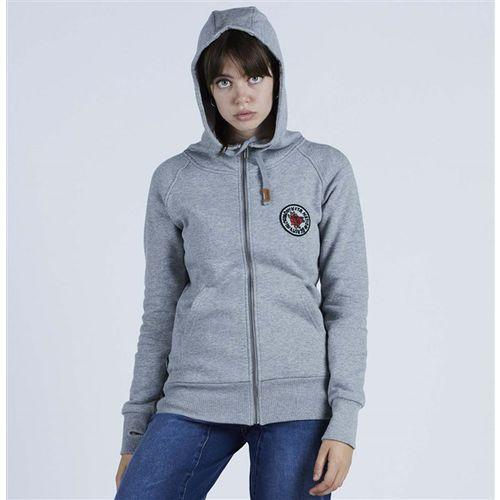 Bluza - norah f-z hoody athletic heather grey (agh) rozmiar: m marki Nikita
