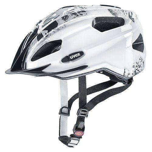Dziecięcy kask rowerowy quatro junior 50-55cm biały marki Uvex