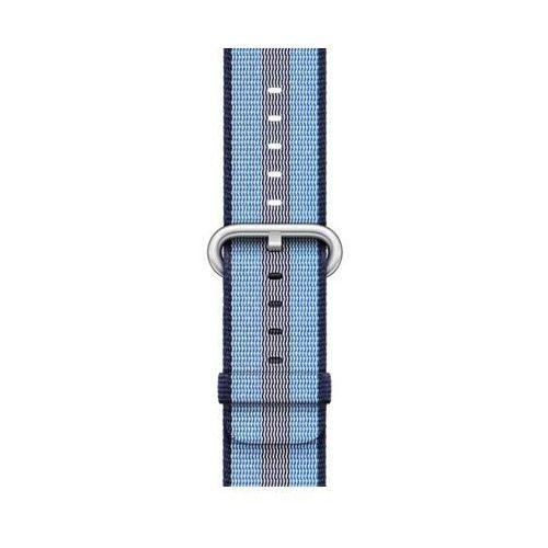 Apple Pasek do smartwatcha watch z plecionego nylonu w kolorze nocnego błękitu (w prążki) do koperty 38 mm mqvj2zm/a