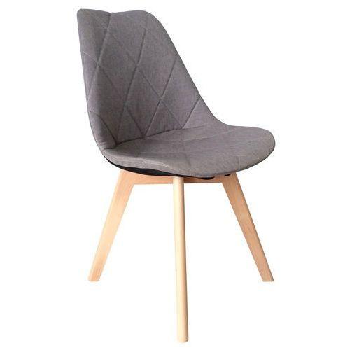 Krzesło tapicerowane karo wood beżowe marki Exitodesign