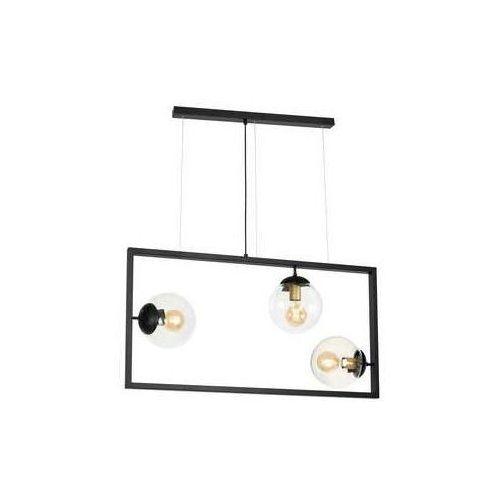Luminex Rey 848 lampa wisząca zwis 3x60W E27 czarny (5907812628482)