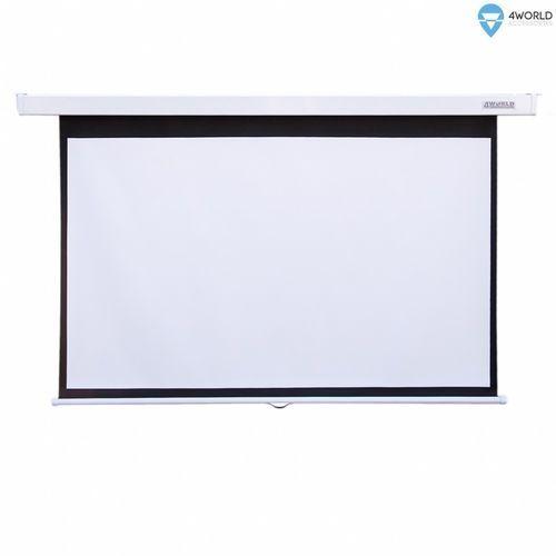 """4w ekran projekcyjny ścienny 265x149 (120"""",16:9) biały matowy marki 4world"""