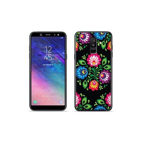 Etuo fantastic case - samsung galaxy a6 plus (2018) - etui na telefon fantastic case - czarna łowicka wycinanka marki Etuo.pl
