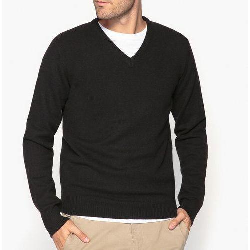 Sweter z dekoltem v, 100% wełny owczej marki La redoute collections
