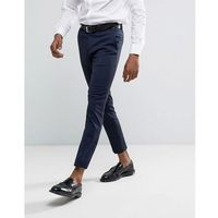 skinny fit smart trousers in navy - navy marki River island