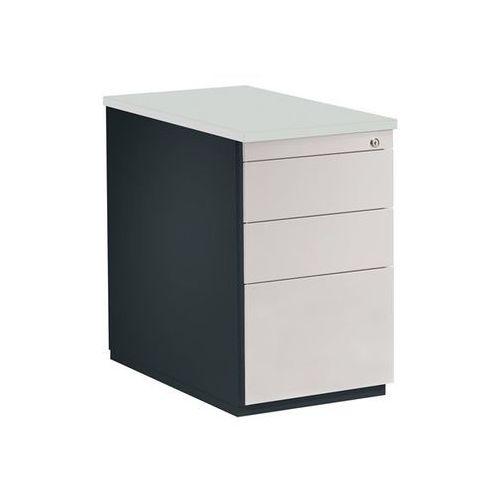 Kontener szufladowy, wys. x głęb. 720x800 mm, 2 szuflady na dokumenty, 1 kartote