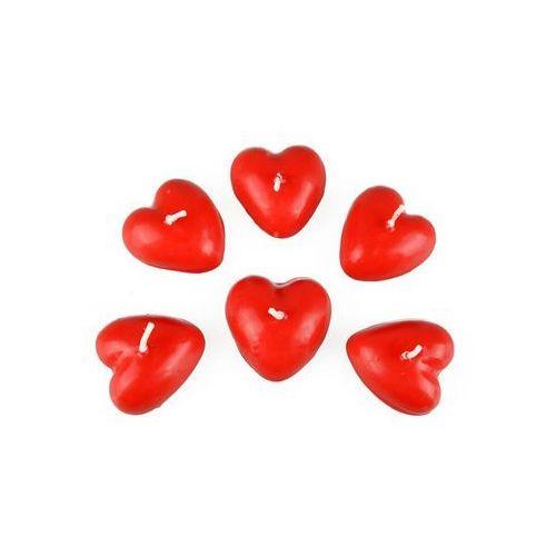 Ar Świeczki pływające czerwone serca - 6 szt (5907667296447)