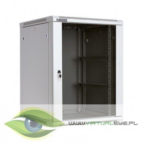 Szafa wisząca 19 15U 600mm drzwi szklane RAL7044 WCB15-66-BAB-C, 1_433967