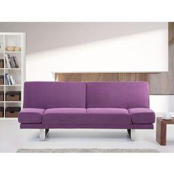 Sofa z funkcją spania fuksja - kanapa rozkładana - wersalka - york od producenta Beliani