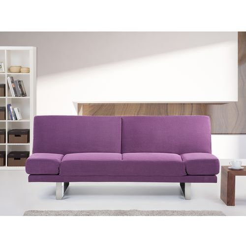 Sofa z funkcją spania fuksja - kanapa rozkładana - wersalka - york wyprodukowany przez Beliani
