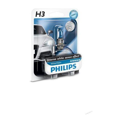Żarówka H3 PHILIPS 12V 55W PK22s WhiteVision 1szt. !ODBIÓR OSOBISTY KRAKÓW! lub wysyłka