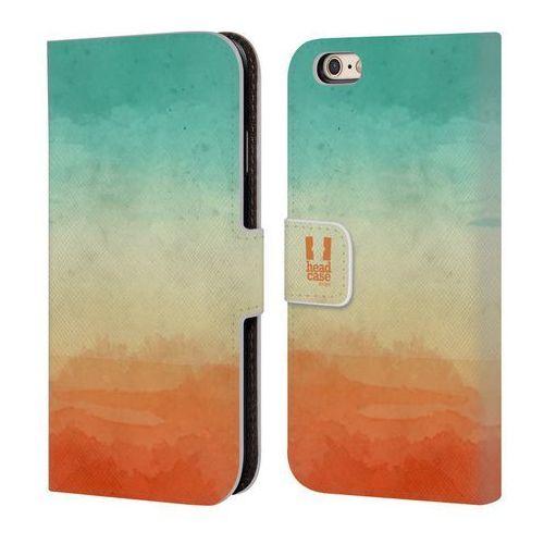 Etui portfel na telefon - Watercoloured Ombre Teal And Orange