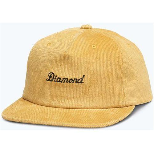 Czapka z daszkiem - city script corduroy snapback gold (gld) rozmiar: os marki Diamond
