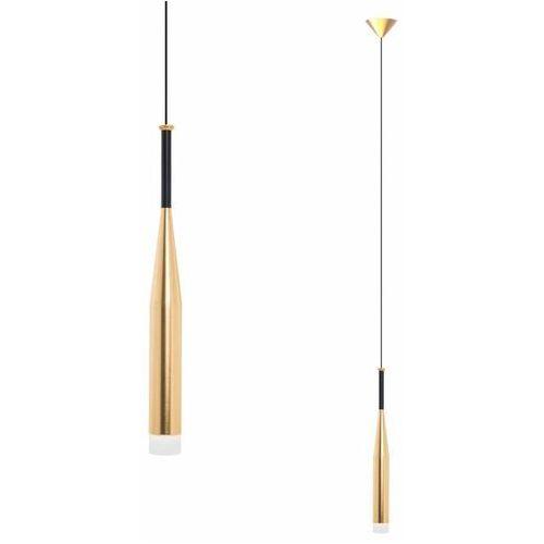 Lampa wisząca conte md1998-1gl metalowa oprawa tuba zwis loft złoty marki Zumaline