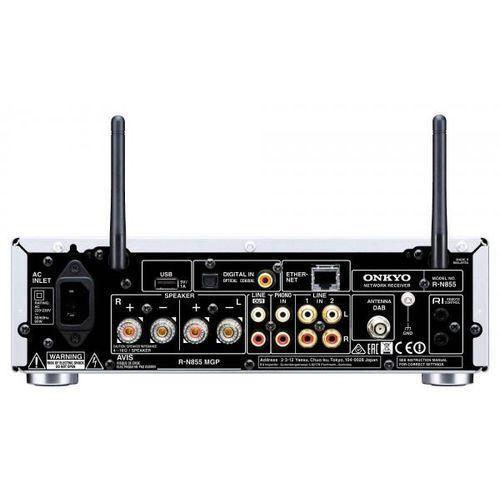 Amplituner ONKYO R-N855 Srebrny DARMOWY TRANSPORT (4573211151763)
