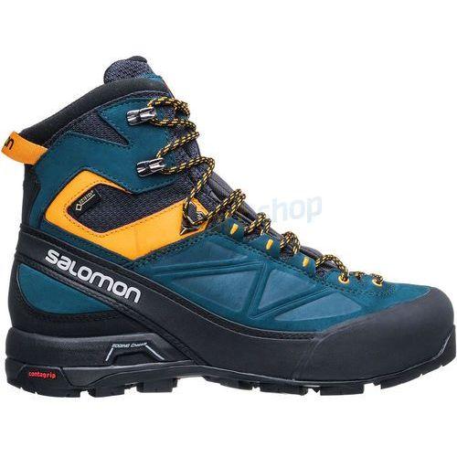 Buty trekkingowe x alp mtn gtx (zielono-żółte) marki Salomon