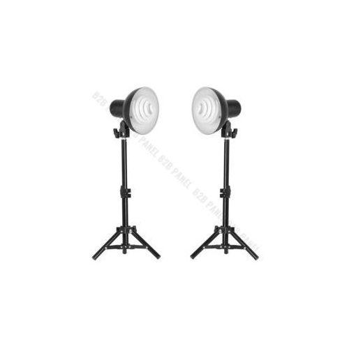 Glareone lampy światła ciągłego 2x35w, statywy, oprawki, świetlówki 35w - zestaw