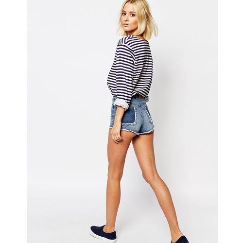 Cheap monday  cut-off shorts with back pocket detail - blue