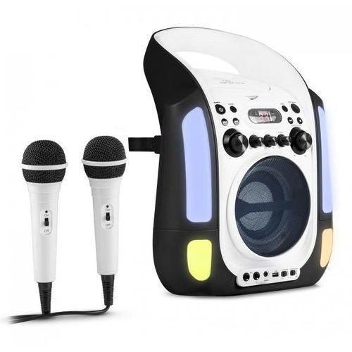 Kara illumina zestaw karaoke cd usb mp3 pokaz świetlny led 2 x mikrofon mobiny czarny marki Auna