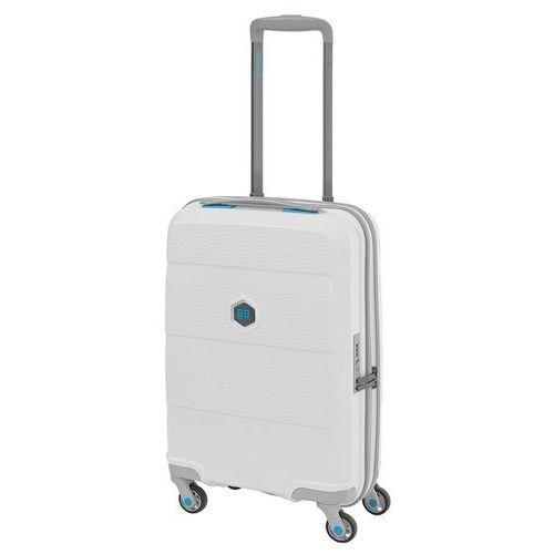 zip2 walizka mała kabinowa antywłamaniowa 20/55 cm / biała - lounge white marki Bg berlin