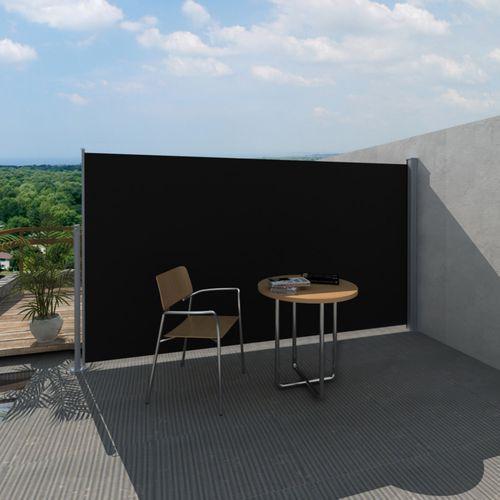 Vidaxl  parawan tarasowy, boczna markiza 180 x 300 cm czarna