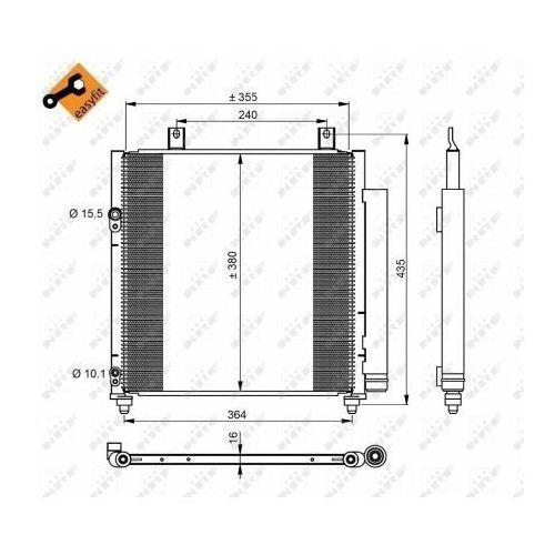 Skraplacz, klimatyzacja NRF 350221