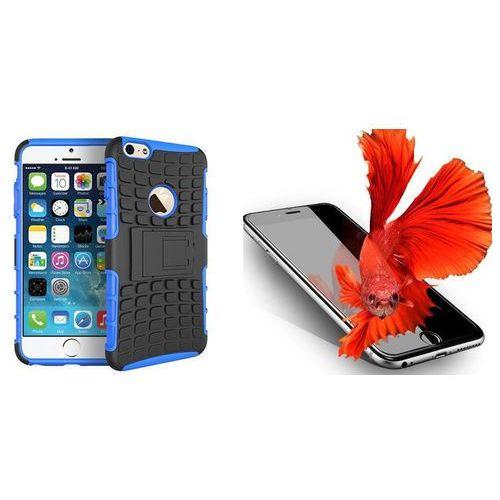 Perfect armor / perfect glass Zestaw | perfect armor niebieski | pancerna obudowa + szkło ochronne perfect glass dla modelu apple iphone 7