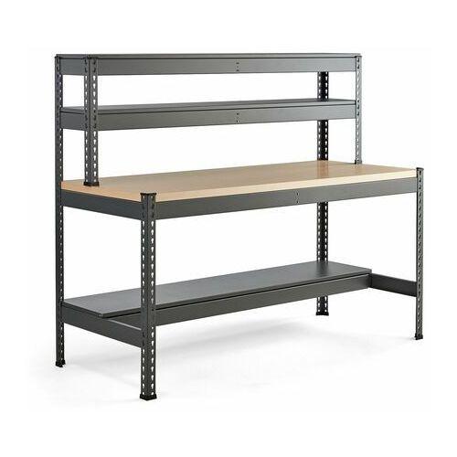 Stół warsztatowy combo, utwardzana płyta, półka 1/2, 1840x775x1530 mm marki Aj produkty