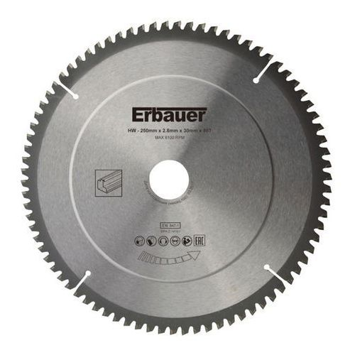 Tarcza uniwersalna 250 x 30/25/20/16 mm 80t marki Erbauer
