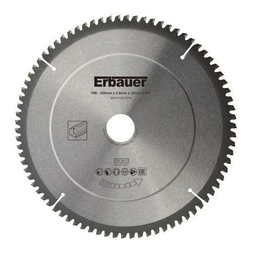 Tarcza uniwersalna Erbauer 250 x 30/25/20/16 mm 80T, SCT56197