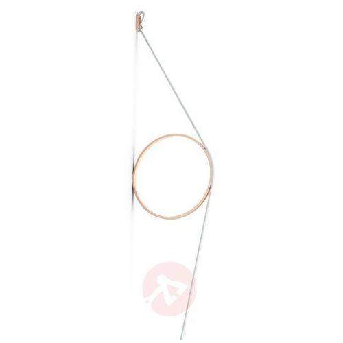 FLOS Wirering kinkiet LED, biały, pierścień różowy