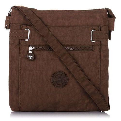 Bag street Sportowa listonoszka raportówka torebka unisex brązowa - brązowy