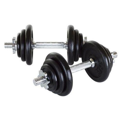 Hantle żeliwne 2 x 10 kg Hop-Sport + rękawiczki neoprenowe - 2 x 10 kg