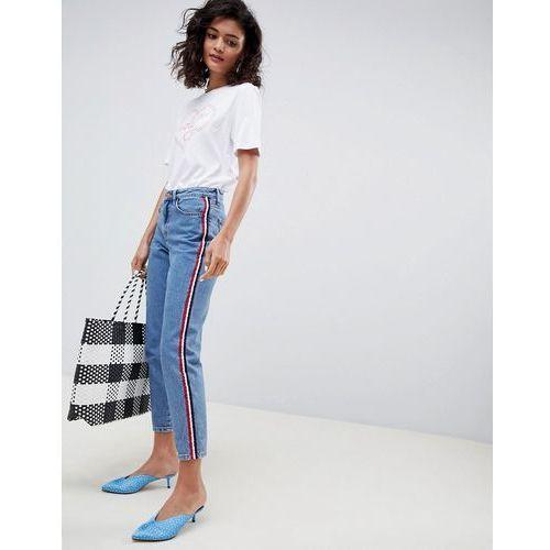 side stripe mom jean - blue marki New look