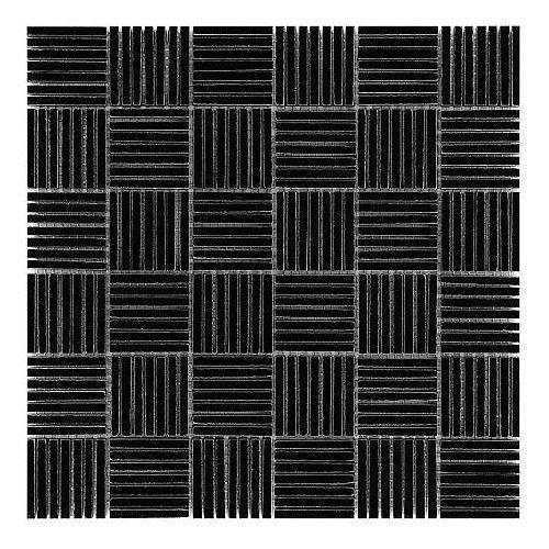 Dunin b&w black & white mozaika kamienna pure black tatami 48