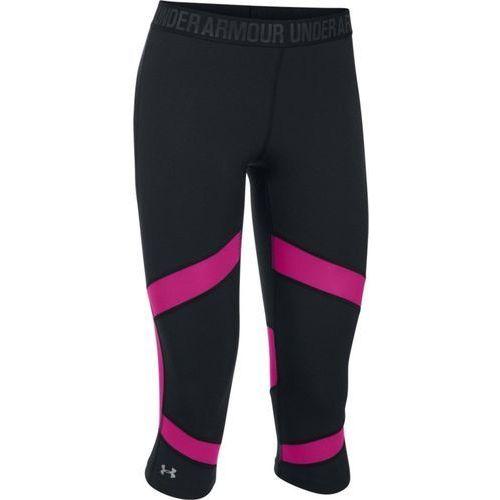coolswitch spliced capri - damskie legginsy (czarno-różowy), Under armour, 36-38